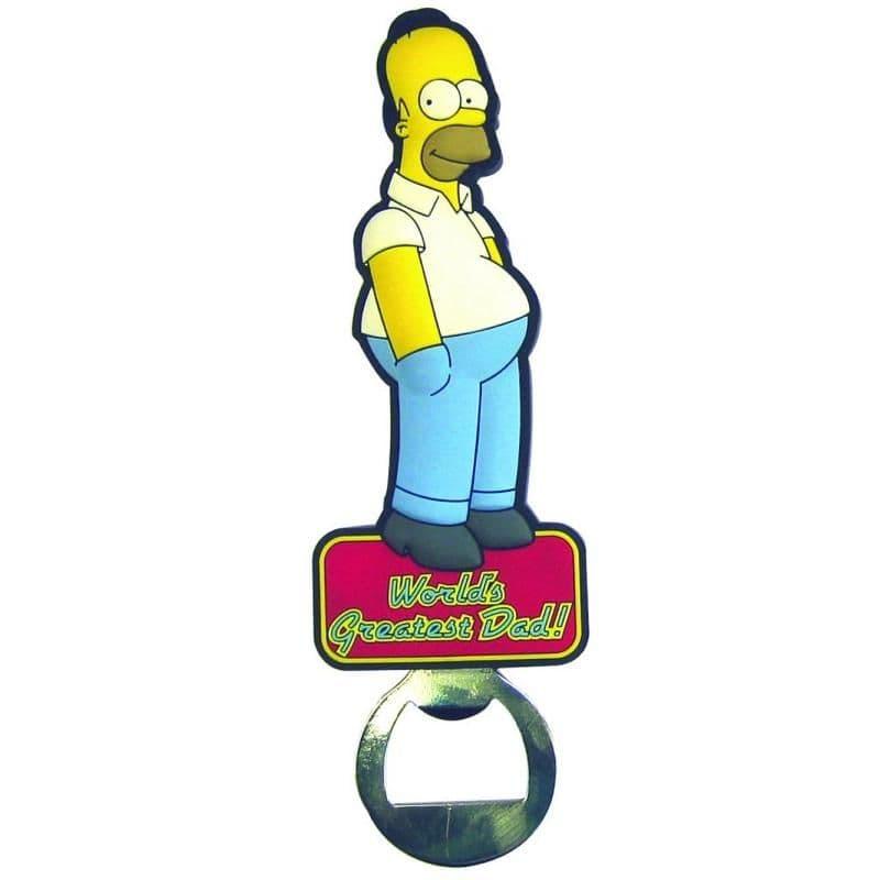 World's Greatest DAD - Homer THE SIMPSONS - PVC Fridge Magnet Bottle Opener