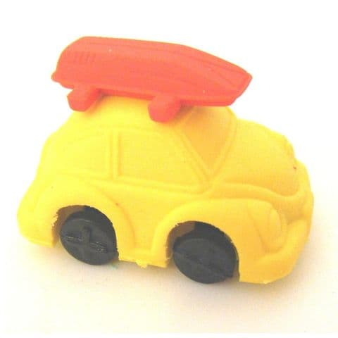 Yellow Beetle Car - 3D Novelty Erasers Rubbers