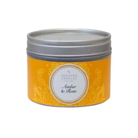 Amber & Rose Scented Filled Tin - Shearer Candles