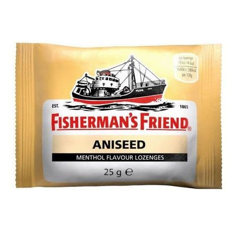 Aniseed Menthol Flavour Lozenges Fisherman's Friend 25g