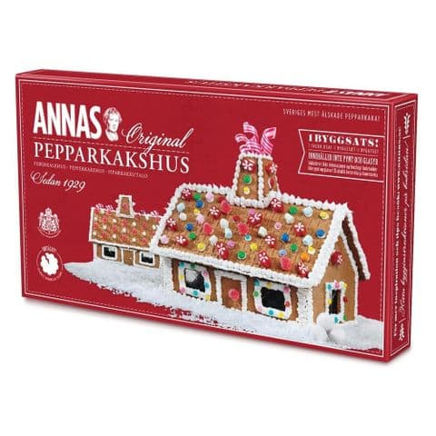 Annas Gingerbread House Kit Original Swedish Pepparkshus Ginger Biscuits 300g