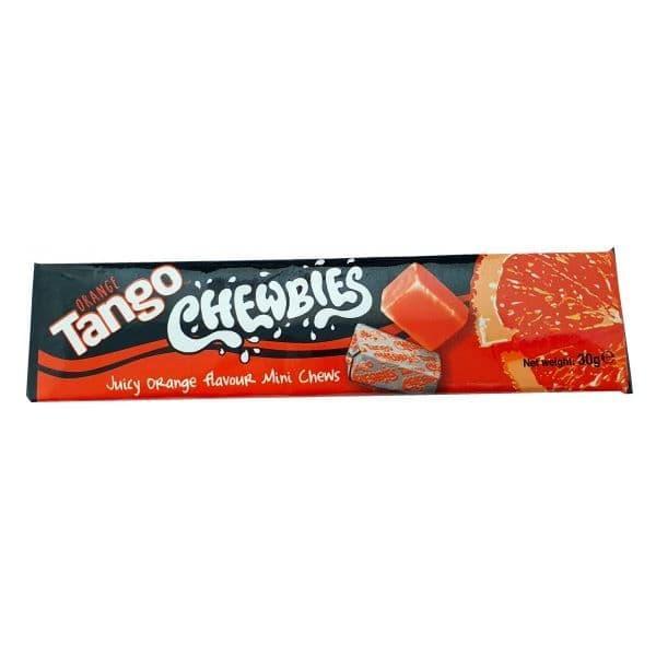 Apple, Cherry, Orange or Blue Raspberry - Tango Chewbies Mini Chews Sweets 30g