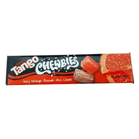 Apple, Cherry, Orange or Blue Raspberry - Tango Chewbies Mini Chews Sweets 30g