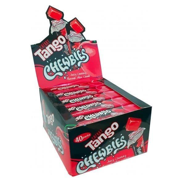 Apple, Cherry, Orange or Blue Raspberry - Tango Chewbies Mini Chews Sweets 30g Wholesale (Box of 40)