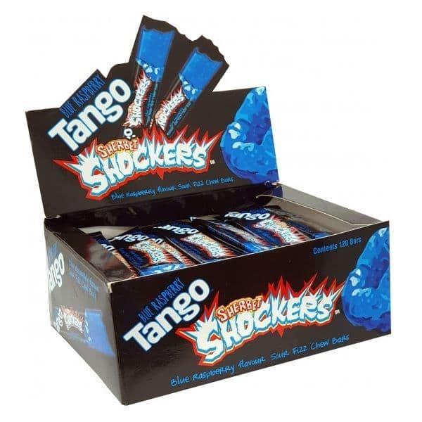 Apple, Cherry, Orange or Blue Raspberry Tango Sherbet Shockers Chews 11g Wholesale (Box of 72/120)