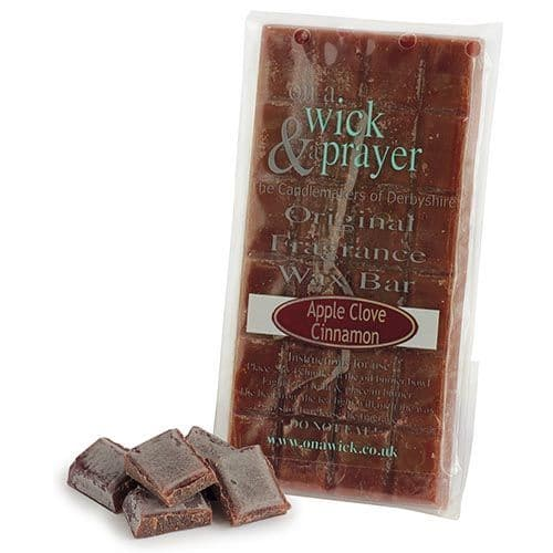 Apple Clove Cinnamon - Original Fragrance Wax Bar On A Wick & A Prayer