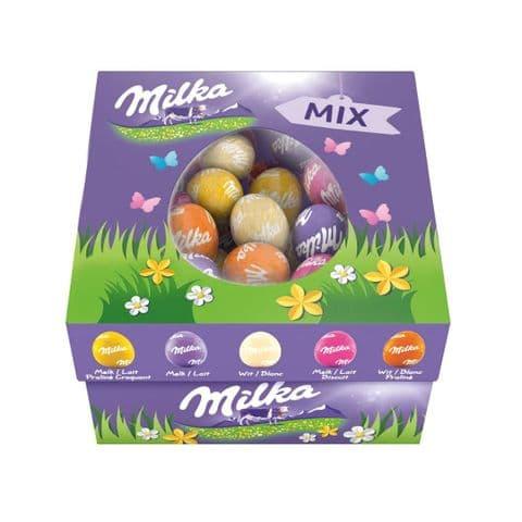 Assorted Mix White & Milk Chocolate Mini Easter Eggs - Milka Box 450g