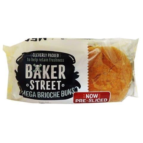 Baker Street 4 Mega Brioche Buns 300g