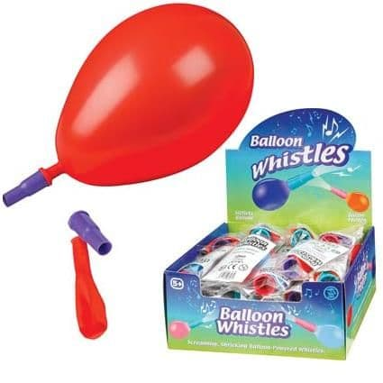 Balloon Whistle Assorted Colours Tobar  (1 Supplied)