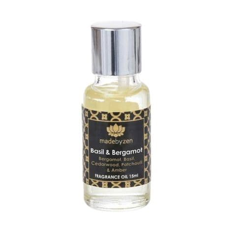 Basil & Bergamot - Signature Scented Fragrance Oil Made By Zen 15ml