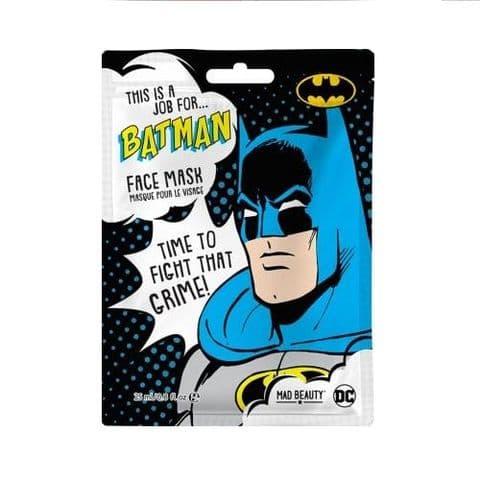Batman Black Tea Scented DC Comics Sheet Face Mask Mad Beauty