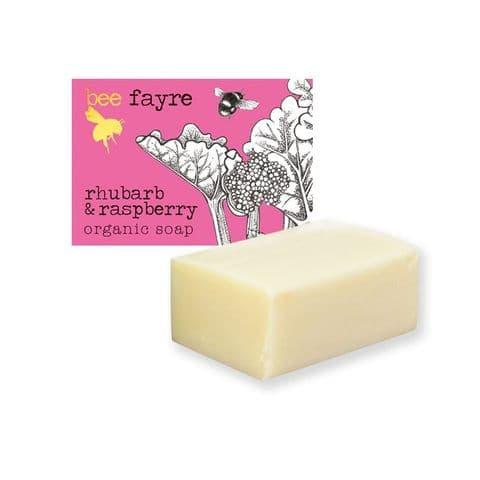 Bee Fruity Rhubarb & Raspberry Organic Soap Beefayre 100g