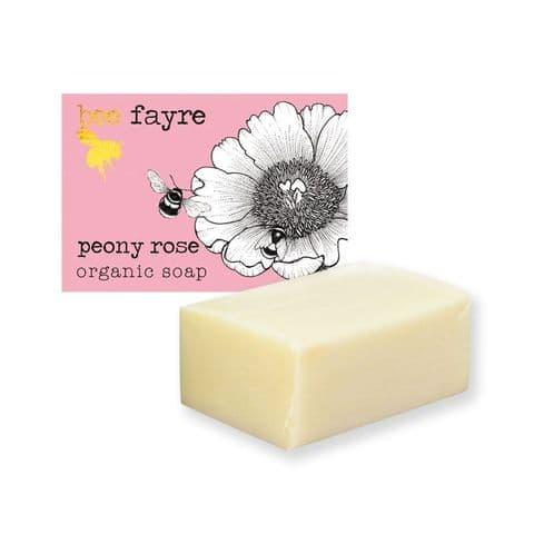 Bee Loved Peony Rose Organic Soap Beefayre 100g