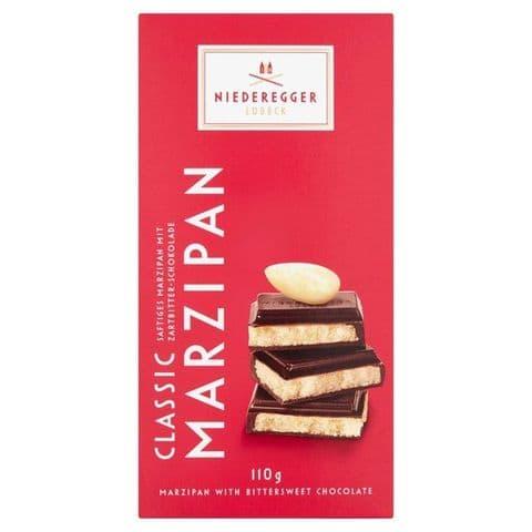 Bittersweet Dark Chocolate Marzipan Niederegger Bar 110g
