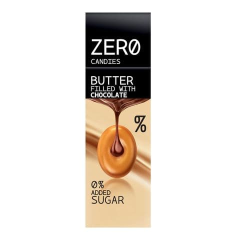 Butter Filled With Chocolate Hard Candy No Added Sugar Free Sweets Zero Candies 36g