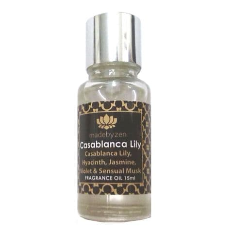Casablanca Lily - Signature Scented Fragrance Oil Made By Zen 15ml