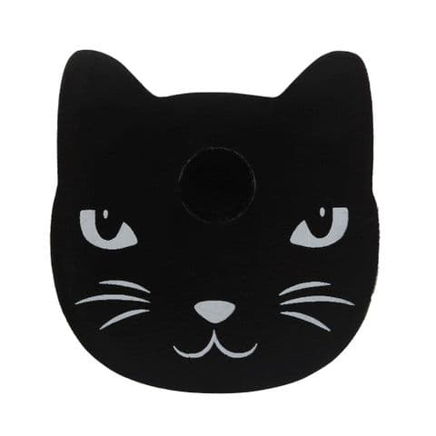 Cat Black Spell Candle Holder Spirit of Equinox