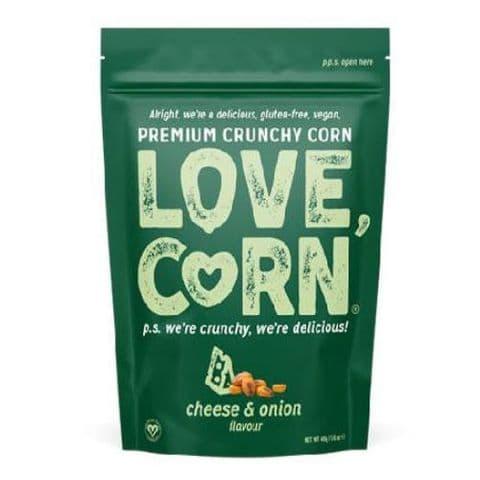 Cheese & Onion Flavour Premium Savoury Snack Love Corn 45g