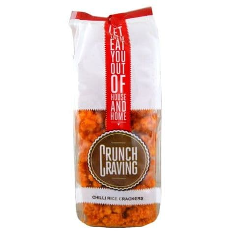 Chilli Rice Crackers  Savoury Snacks Crunch Craving 80g