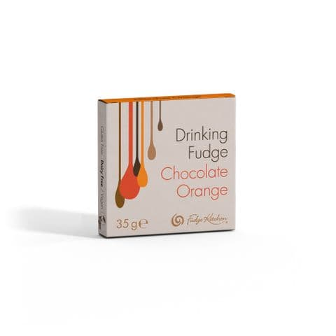Chocolate Orange - Drinking Fudge Liquid Hot Chocolate Syrup 35g By Fudge Kitchen