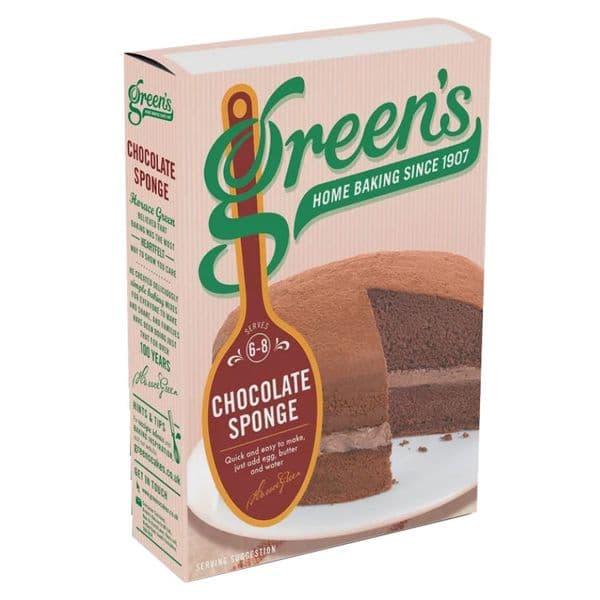 Chocolate Sponge Cake Mix Green's 221g