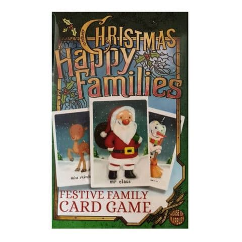 Christmas Happy Families Festive Family Card Game By House Of Marbles - Age 3 Plus