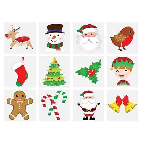 Christmas - Pack of 12 Mini Tattoos