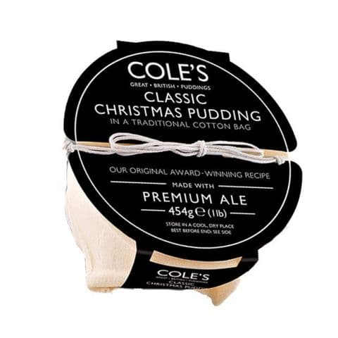 Classic Christmas Pudding Premium Ale Cole's Great British Puddings 454g