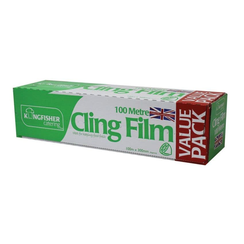 Cling Film Wrap Extra Value Pack Kingfisher Catering (30cm x 100m)