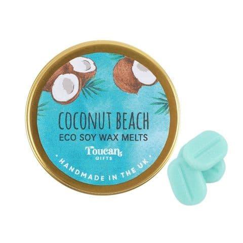 Coconut Beach - Christmas Eco Soy Wax Melts Magik Beanz Busy Bee Candles