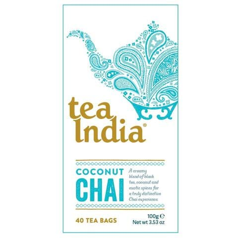 Coconut Chai Tea India 100g (40 Tea Bags)