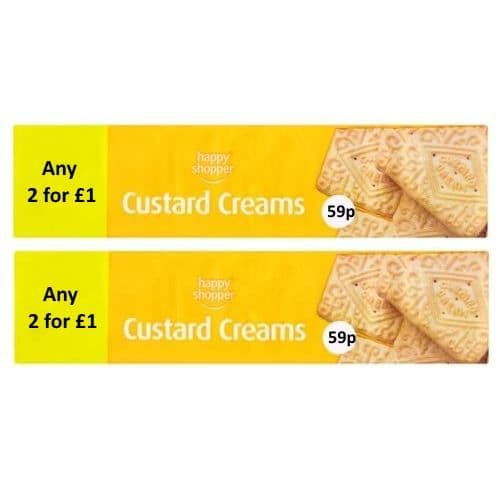 Custard Creams Biscuits Happy Shopper 150g (2 Pack)