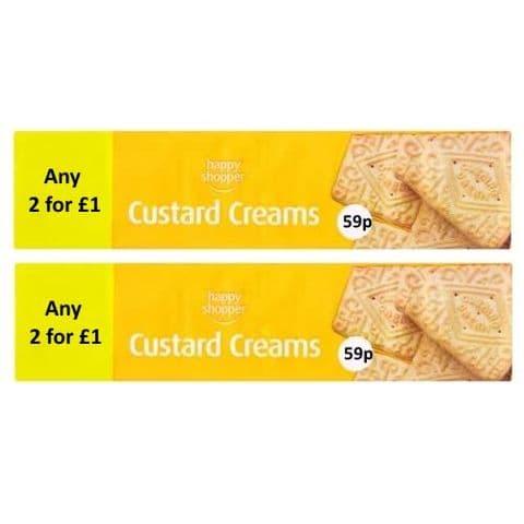Custard Creams Biscuits Happy Shopper 150g (2 Pack)