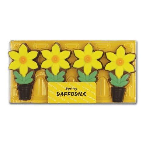 Daffodils - Spring Easter Chocolates Gift Box Gwynedd Confectioners 75g