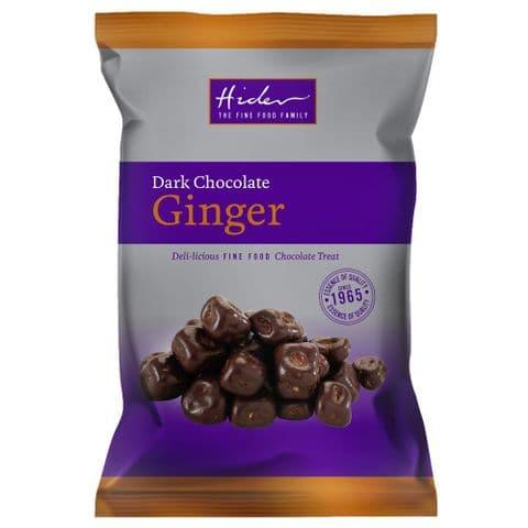 Dark Chocolate Coated Stem Ginger Chunks Hider Foods 125g