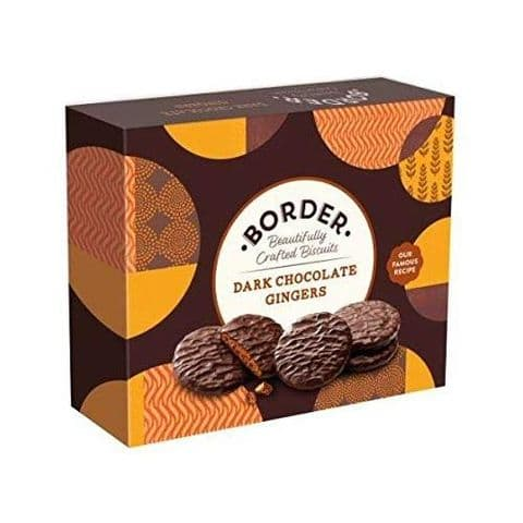 Dark Chocolate Gingers - Border Biscuits Gift Box 255g