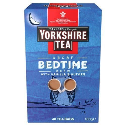 Decaf Bedtime Brew Yorkshire Tea Bags 100g Taylors of Harrogate (Pack of 40)