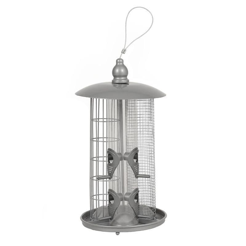 Deluxe 3 In 1 Wild Bird Feeder (Seed, Nuts & Fatballs) Nature's Market Kingfisher