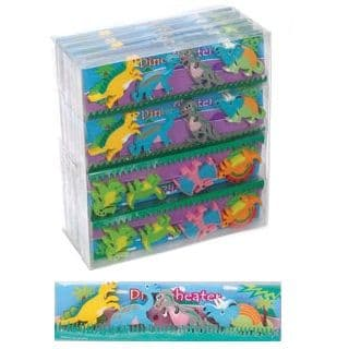 Dinosaur Erasers Novelty Rubbers - Set of 4