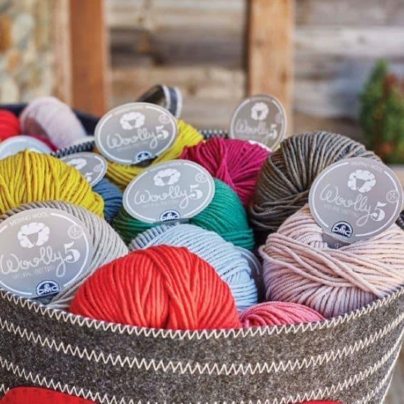 DMC Woolly 5 Knitting Crochet Yarn 100% Merino Wool 50g (1 Supplied)