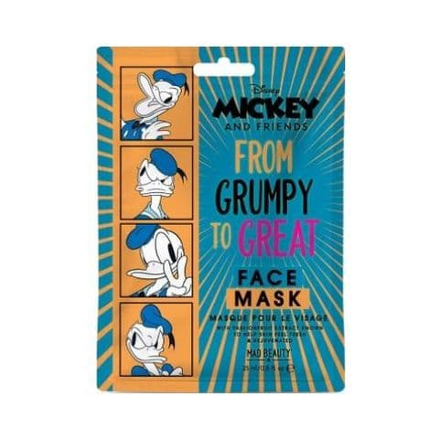 Donald Duck Passionfruit Scented Disney Mickey And Friends Sheet Face Mask Mad Beauty