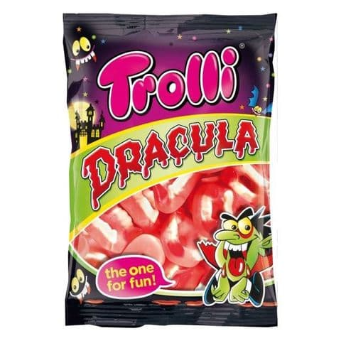 Dracula Teeth Fangs Gummy Sweets Trolli 200g