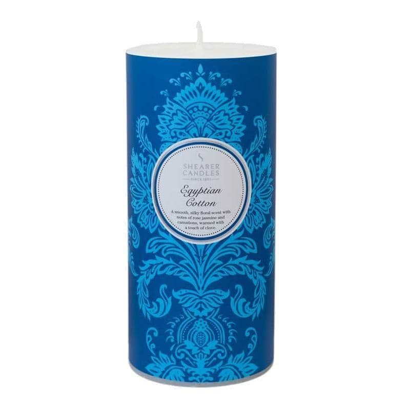 Egyptian Cotton Scented Pillar Candle - Shearer Candles
