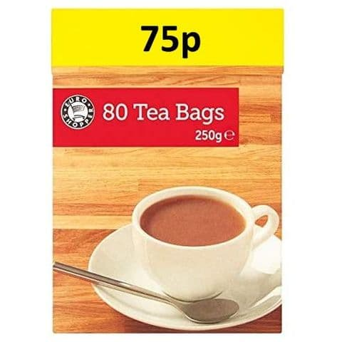 Euro Shopper Tea Bags 250g (Pack of 80)