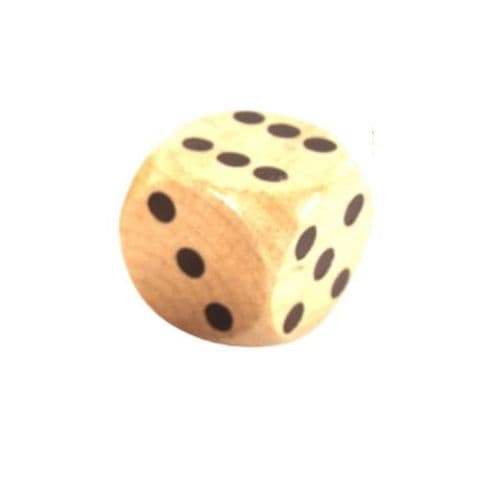 Extra Large Dice - Coloured Replacement Wooden Die - Red, Blue, Green or Natural Wood