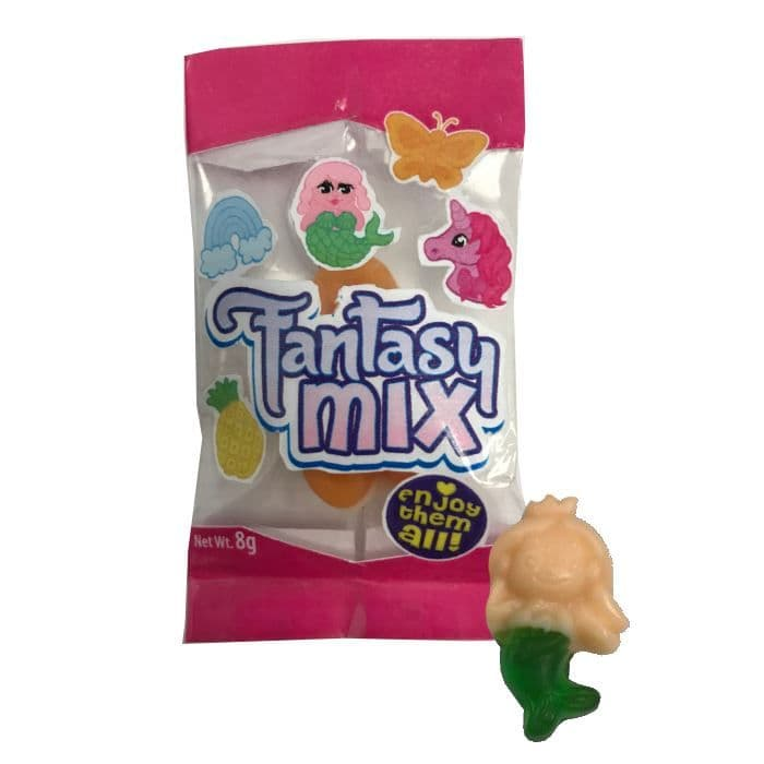 Fantasy Mix Mini  Gummy Gummies Sweets Novelty Candy Rose Confectionery 8g