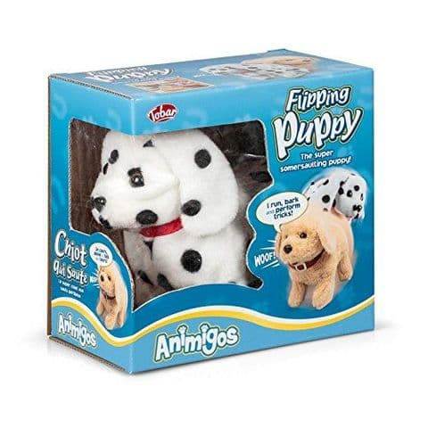 Flipping Puppy Dalmation Animigos Plush Toy Tobar 18m+