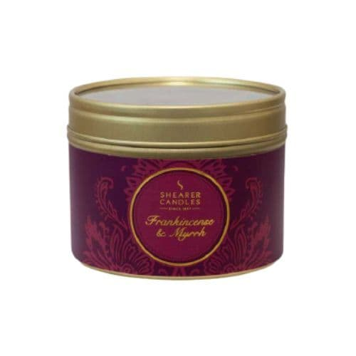 Frankincense & Myrrh Scented Filled Tin - Shearer Candles