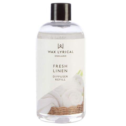 Fresh Linen Fragranced Reed Diffuser Refill Made In England Wax Lyrical 200ml