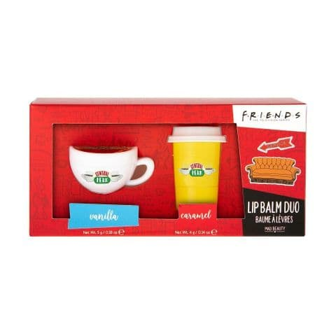 Friends Coffee Cup Lip Balm Duo Gift Set Mad Beauty 9g